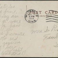 1918-05-27 Postcatd Wright Jolley to Mrs. S.R. Jolley - back