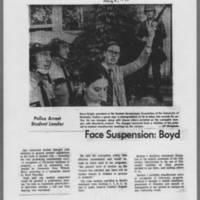 "1970-05-08 Daily Iowan Article: """"Face Suspension: Boyd"""""