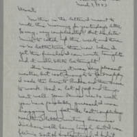 1943-03-03 Laura Davis to Lloyd Davis Page 1