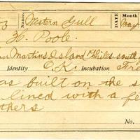 Horace Poole, egg card # hp001u