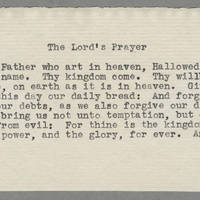 1942-07-19 Laura Davis to Lloyd Davis Page 6 - The Lord's Prayer