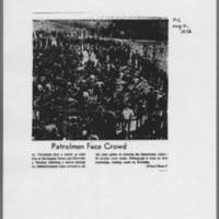 "1972-05-10 Daily Iowa Article: """"Patrolmen Face Crowd"""""