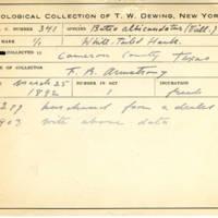 Thomas Wilmer Dewing, egg card # 228