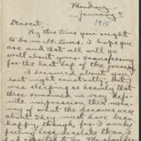 Conger Reynolds correspondence, January 1918