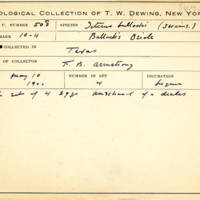 Thomas Wilmer Dewing, egg card # 684u