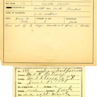 Thomas Wilmer Dewing, egg card # 722u