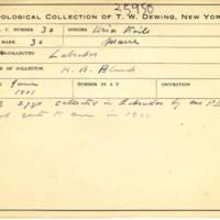 Thomas Wilmer Dewing, egg card # 020