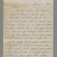 1944-01-09 George Davis to Lloyd Davis Page 1