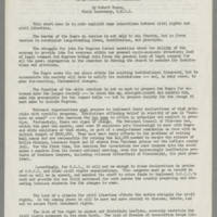 """""Civil Rights and Civil Liberties"""" by Robert Moses, Field Secretary, S.N.C.C. Page 1"