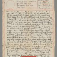 1943-03-23 Laura Davis to Lloyd Davis Page 1