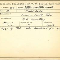 Thomas Wilmer Dewing, egg card # 409