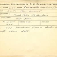 Thomas Wilmer Dewing, egg card # 167