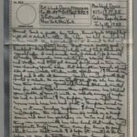 1943-07-18 Laura Davis to Lloyd Davis Page 1