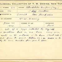 Thomas Wilmer Dewing, egg card # 748u