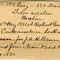 Clinton Mellen Jones, egg card # 248