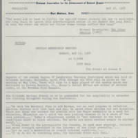 1968-05-16 Newsletter, Fort Madison Branch of the NAACP Page 1