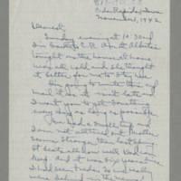 1942-11-01 Laura Davis to Lloyd Davis Page 1