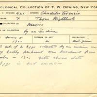 Thomas Wilmer Dewing, egg card # 323