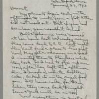 1943-01-23 Laura Davis to Lloyd Davis Page 1