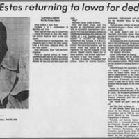 """1976-06-28 Article: """"""""Simon Estes returning to Iowa for dedication"""""""""""