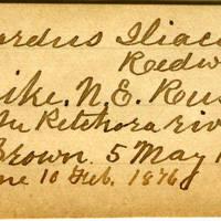 Clinton Mellen Jones, egg card # 318