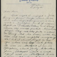 1945-07-27 Pfc. Roger K. Banks to Dave Elder Page 1