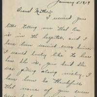 Francis McDermott correspondence, 1919-1923