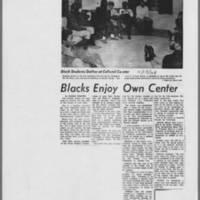 "1968-11-15 Daily Iowan Article: ""Blacks Enjoy Own Center"""