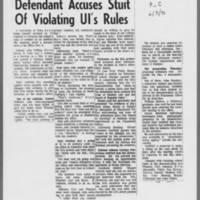 "1971-02-05 Iowa City Press-Citizen Article: """"Defendant Accuses Stuit Of Violating UI's Rules"""""