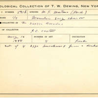 Thomas Wilmer Dewing, egg card # 460