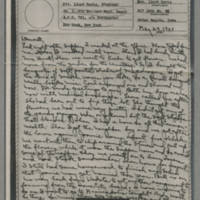 1943-05-29 Laura Davis to Lloyd Davis
