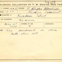 Thomas Wilmer Dewing, egg card # 077