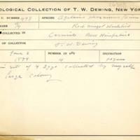 Thomas Wilmer Dewing, egg card # 675u