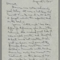 1945-08-01 Laura Davis to Lloyd Davis Page 1