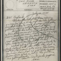 1945-07-20 Pfc. Sam Simmering to Dave Elder