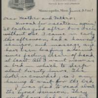 1917-06-23 Conger Reynolds to Mr. & Mrs. John Reynolds Page 1
