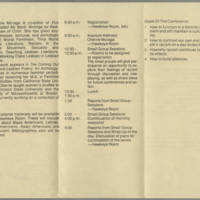 """1982-05-01 Program for """"""""Women Against Racism"""""""" Page 2"""