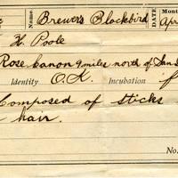 Horace Poole, egg card # hp005u