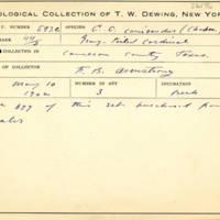 Thomas Wilmer Dewing, egg card # 704u