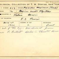 Thomas Wilmer Dewing, egg card # 346