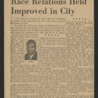 "1953-02-14 Burlington Hawkeye Gazette Article: ""Race Relations Held Improved in City"""