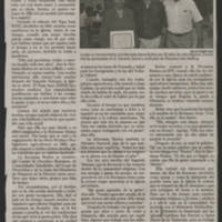 """2006-07-15 Ottumwa Courier Article: """"""""50 anos ayudando a la gente de Dios"""""""" Continuacion de Pagina A1"""
