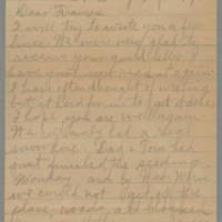 1945-04-09 Laura Hutchison to Laura Frances Davis Page 1