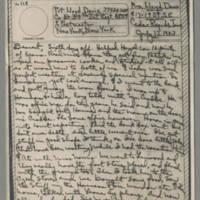 1943-07-13 Laura Davis to Lloyd Davis Page 1