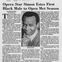 """1986-09-20 """"""""Opera Star Simon Estes First Black Male to Open Met Season"""""""""""