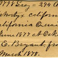 Clinton Mellen Jones, egg card # 261