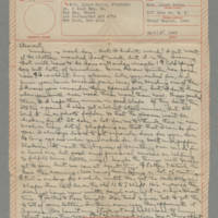 1943-04-05 Laura Davis to Lloyd Davis Page 1