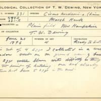 Thomas Wilmer Dewing, egg card # 656u