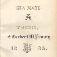 Zea Mays by Herbert M. Prouty, 1886