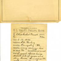 Thomas Wilmer Dewing, egg card # 834u